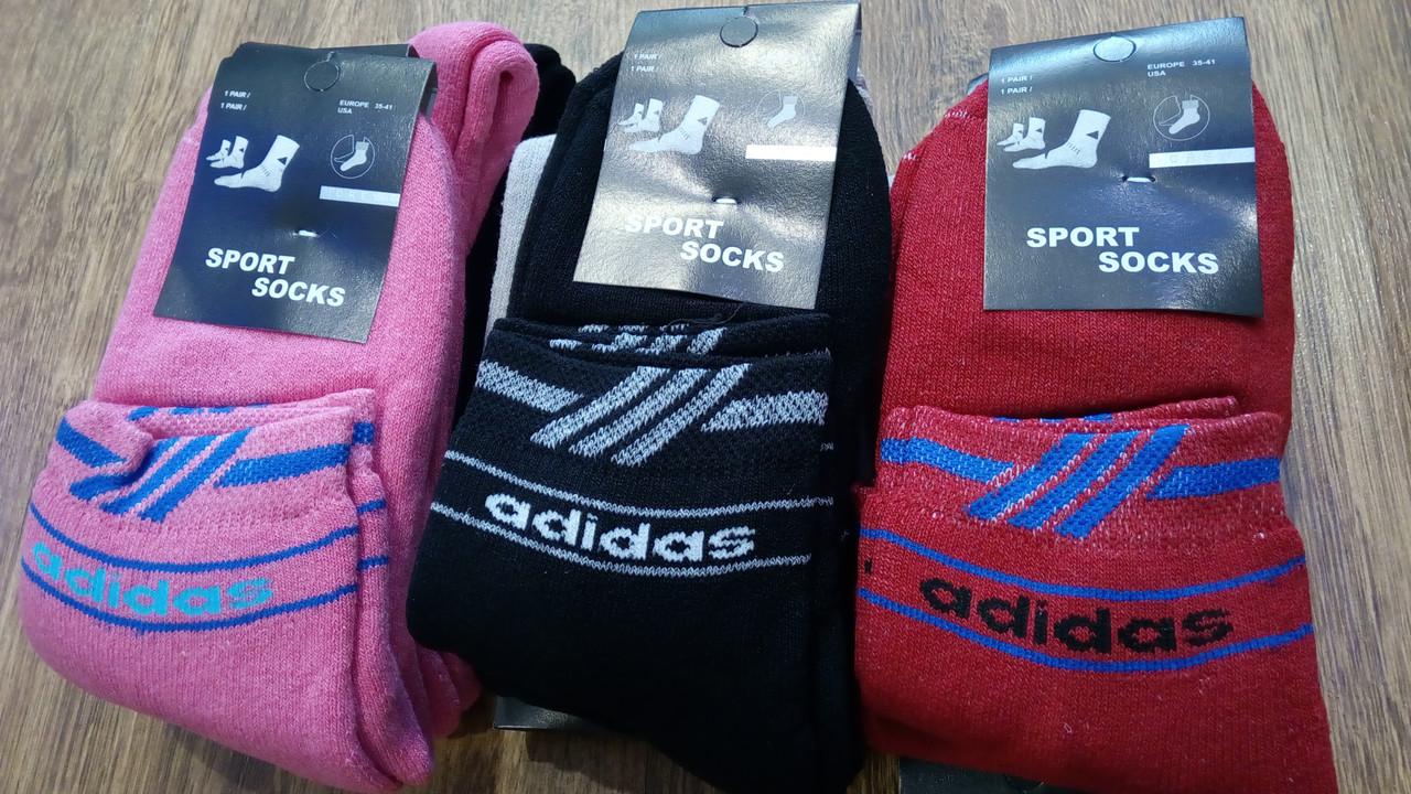 """Носки женские махровые в стиле""""Adidas SS"""""""