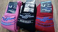 """Носки женские махровые в стиле""""Adidas SS"""", фото 1"""