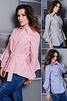 Женская рубашка в полоску Скай