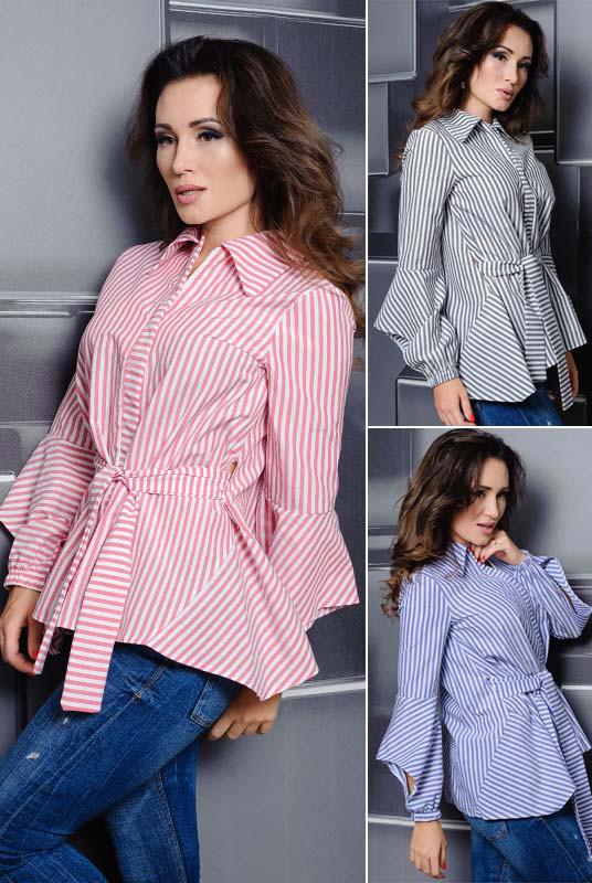 Жіноча сорочка в смужку Скай