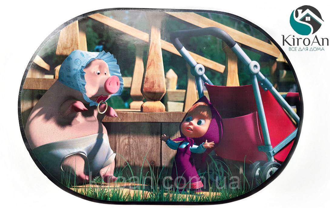 Детская салфетка на стол под тарелки и для детского творчества 30х40см (Маша и Розочка) 06038