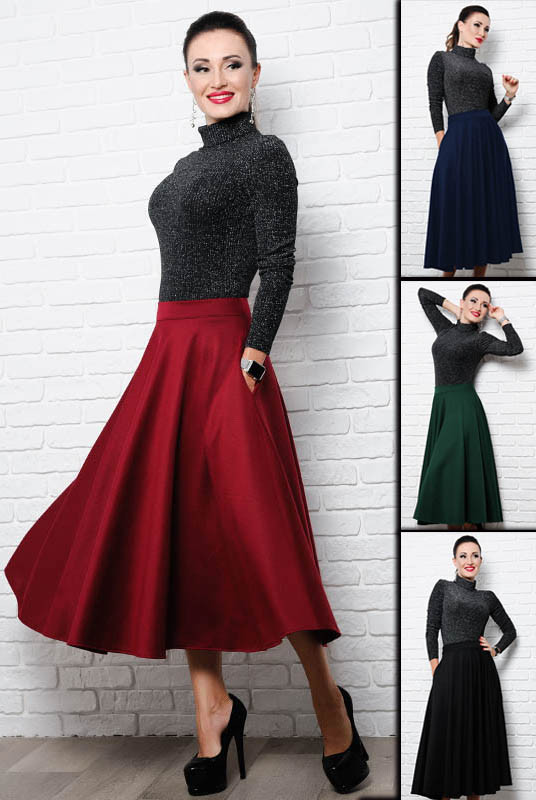 14074a6784b Женская расклешенная юбка миди  Мелисса  до р.60 - LOOK BUY в Одессе
