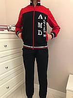 Спортивный костюм для девочек красного цвета. Размеры 134-164