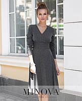 Приятное платье из тонкого трикотажа «в рубчик» размеры S-ХL, фото 1