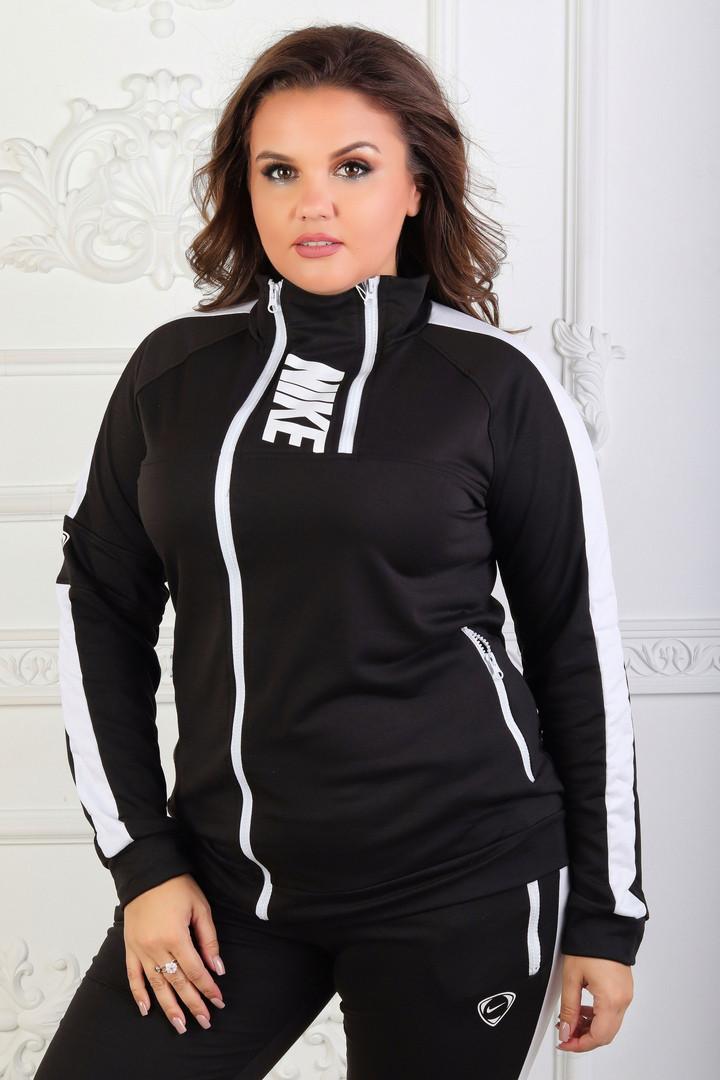 Спортивный костюм больших размеров 48+  декорирован змейками   арт 6420-223