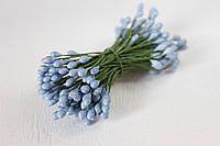 Тычинки двусторонние 20 шт (40 головок) светло-синего, василькового цвета, фото 1