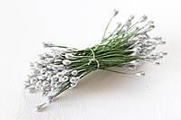 Тычинки двусторонние 20 шт (40 головок) серебристого цвета