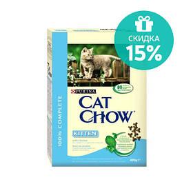 Cat Chow Kitten корм для котят с курицей, 15 кг