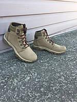 Ботинки Техно кожа нубук бежевые, фото 1