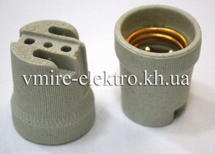Патрон електричний підвісний керамічний Е 27 (Китай)