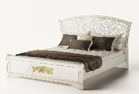 Кровать двухспальная Полина Нова 160 1160х1880х2120мм белый лак + печать   Світ Меблів