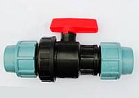 """Кран кульовий, затискний діаметр 63х63"""".(КЗ)., фото 1"""