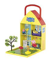 Игровой набор Peppa ДОМ ПЕППЫ С ЛУЖАЙКОЙ домик с аксессуарами, 2 фигурки (06156), фото 1