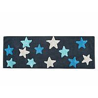 Коврик Irya - Star mavi черный/голубой 50*150