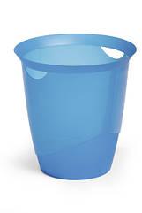 TREND ведро для бумаг 16л  DURABLE прозрачно-синее