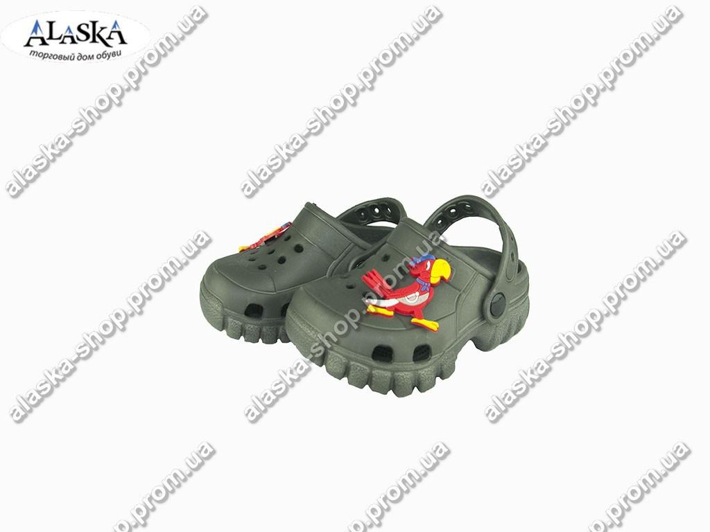 Детские кроксы ( Код: 118002 JA коричневый )