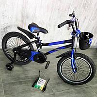 """Детский двухколесный велосипед 14 """"HAMMER"""" S500 Черно-Синий, фото 1"""