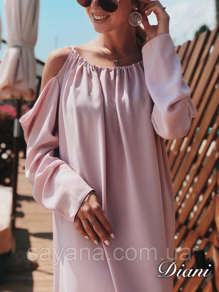 Женское длинное платье «Фисташка» с декором в расцветках. ЕД-1-0319