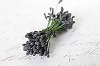 Тычинки двусторонние 20 шт (40 головок) черного цвета, фото 1