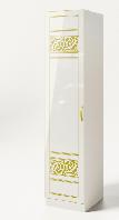 Пенал Полина Нова  2305х530х610мм белый лак + печать   Світ Меблів