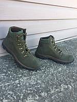 Ботинки Техно нубук олива, фото 1