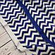 Плед вязанный, зигзаг синий 85*70 см (90% хлопок, 10% акрил), фото 4