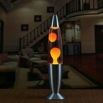Лава лампа с парафином (34см) оранжевая
