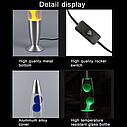 Лава лампа с парафином (40см) синяя, фото 3