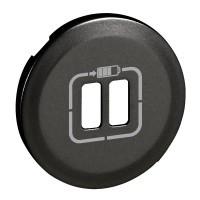 Лицевая панель - Программа Celiane - зарядное устройство 2 х USB 1500 мА, Кат. № 0 674 62 - графит