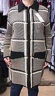 Женский кардиган-пальто больших размеров в расцветке, фото 1