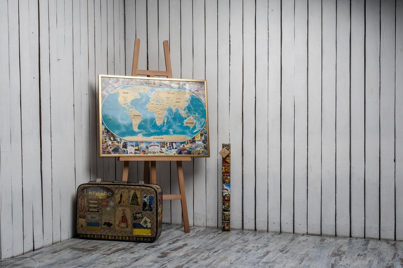"""Скретч карта мира My Vintage Map (на русском языке) - """"УХтышКА"""" сувениры, подарки, приколы, интересные вещи, игрушки в Киеве"""