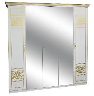 Шкаф Полина Нова 5Д 2260х2330х640мм белый лак + печать   Світ Меблів