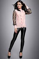 bc3e249463d Женская блузка с воротником стойка 2714 44–50р. в расцветках