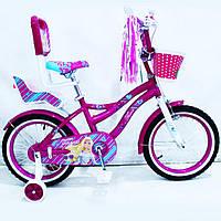 Детский велосипед Flora, 14 дюймов, малиновый