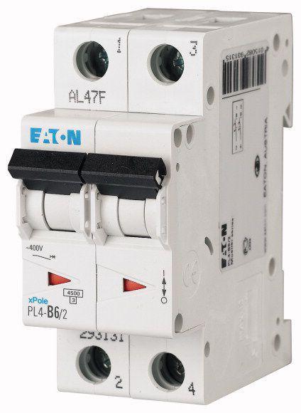 Автоматический выключатель PL4-C6/2  Eaton