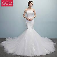 Модное свадебное платье, рыбка