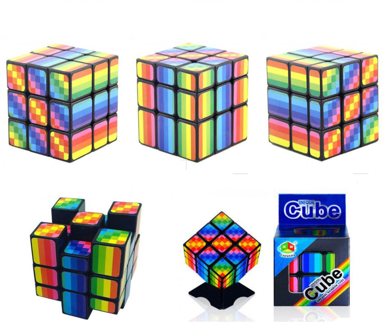 Кубик Рубика 3х3 Радужный