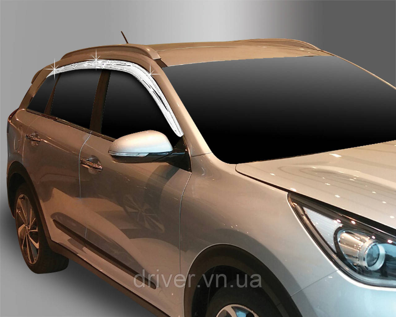 Kia Niro (2016-) Дефлектора окон хром 6шт