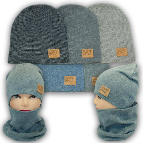 Комплект шапка и шарф хомут для мальчика, р. 52-54