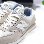 Кросівки New Balance 574 light gray white. Живе фото (Репліка ААА+), фото 2
