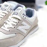 Кроссовки New Balance 574 light gray white. Живое фото (Реплика ААА+), фото 2