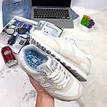 Кроссовки New Balance 574 light gray white. Живое фото (Реплика ААА+), фото 4