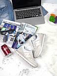 Кроссовки New Balance 574 light gray white. Живое фото (Реплика ААА+), фото 6