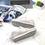 Кроссовки New Balance 574 light gray white. Живое фото (Реплика ААА+), фото 8