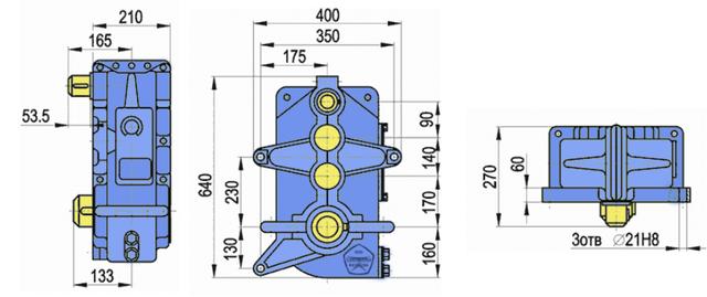 Габаритные размеры редуктора В-400 чертеж
