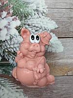 Презентное мыльце Поросюша ручной работы. Вес 260 г. Новогодняя феерия подарков. Подложи другу свинью=))