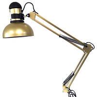 Настольная лампа с креплением к столу, с выключателем на плафоне
