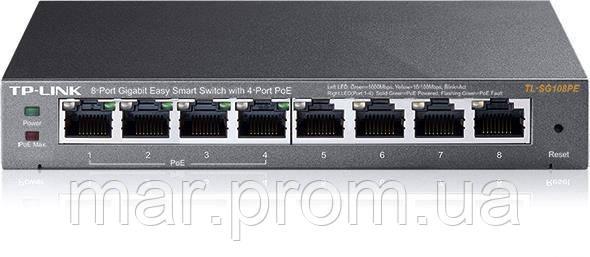 Коммутатор TP-LINK TL-SG108PE 8x1GE/4xPoE 65.2W, EasySmart
