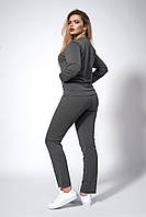 Женский трикотажный костюм. Код модели КТ-15-43-18. Цвет серый.