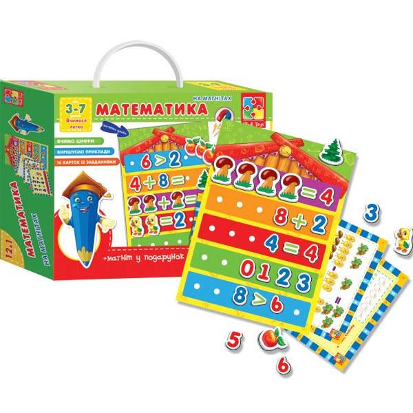Развивающие игры, Математика с магнитной доской (укр., рус), фото 3